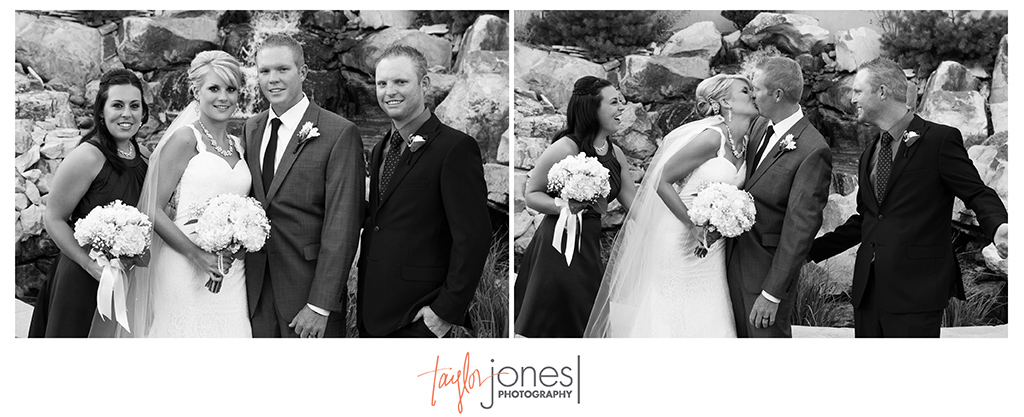 Brother and sister of bride and groom at Cielo at Castle Pines wedding