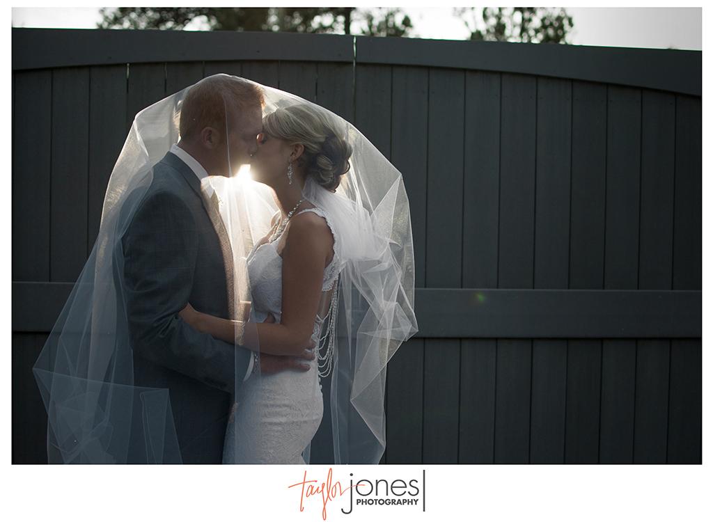Off camera flash OCF bride and groom at Cielo wedding