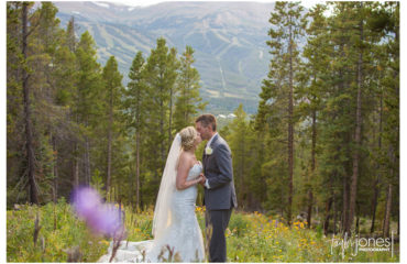 Breckenridge wedding photographer at ski home with Ashley and Eric
