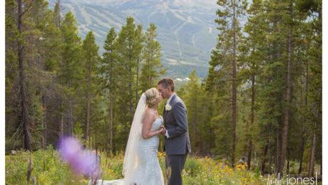 Breckenridge wedding photographer at ski home with Ashley and Eric