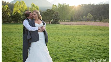 Evergreen spring wedding at Evergreen Lake House
