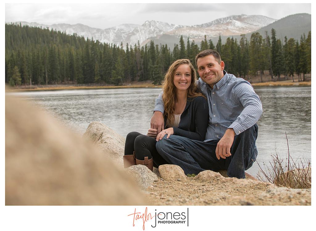 Engagement shoot at Echo Lake