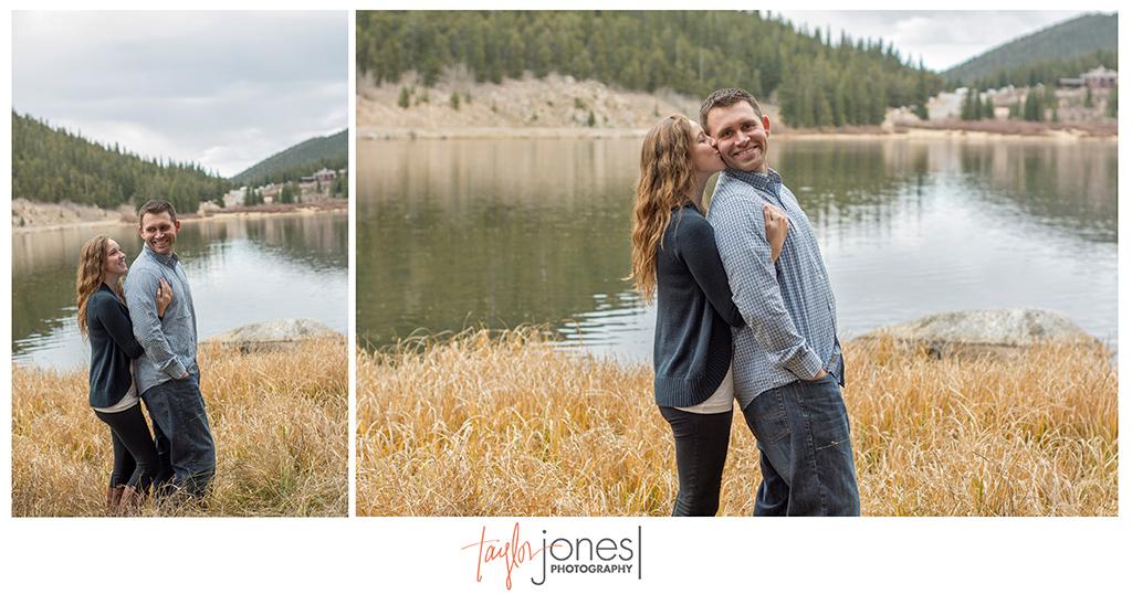 Fall engagement shoot at Echo Lake