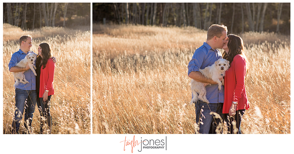 Megan and Derrick engagement shoot in Conifer