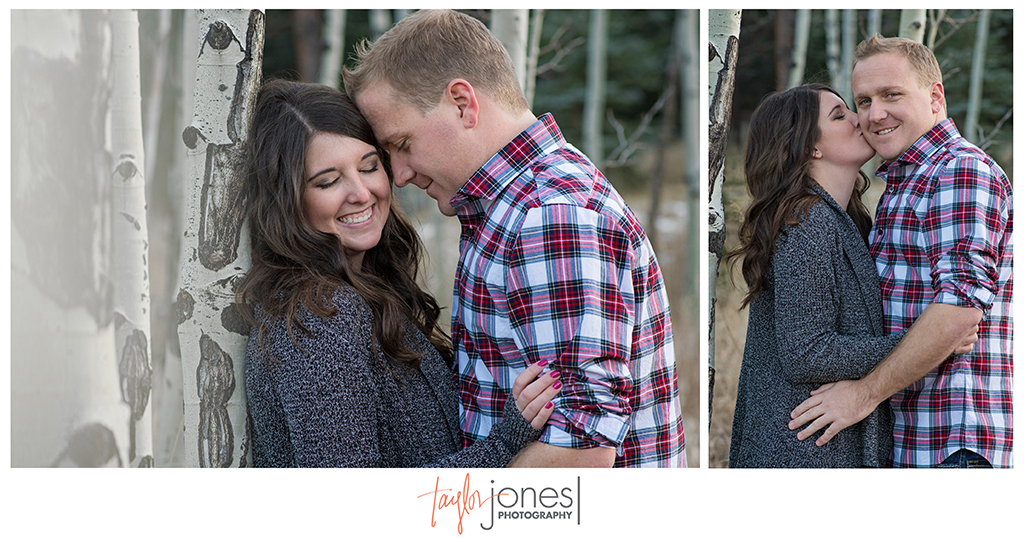 Conifer Colorado photographer engagement shoot at sunset