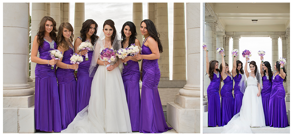 Armenian bridesmaids at Cheeseman Park wedding portraits