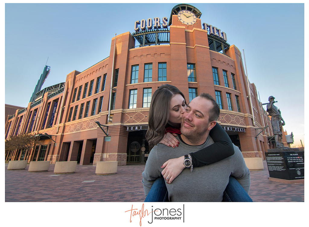 Coors Field engagement photos