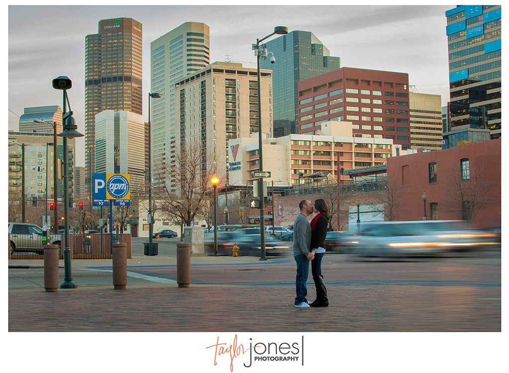 Downtown Denver winter engagment shoot