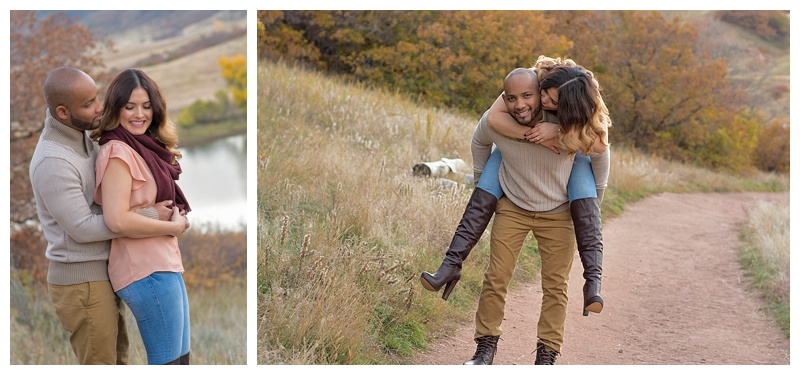 Fall engagement shoot at South Valley Park
