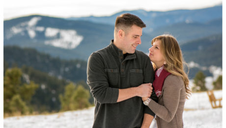 Rocky Mountain engagement shoot at Mt. Falcon