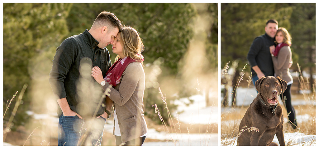 Morning light engagement shoot at Mt. Falcon Conifer Colorado photographer