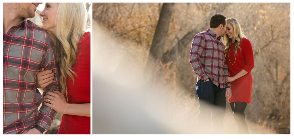 Winter engagement shoot in Golden Colorado