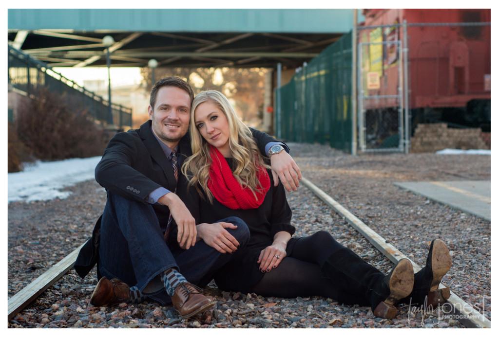 Railroad engagement shoot