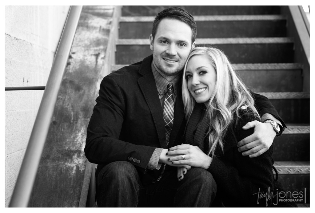 Jenny and Chris downtown Denver urban engagement shoot