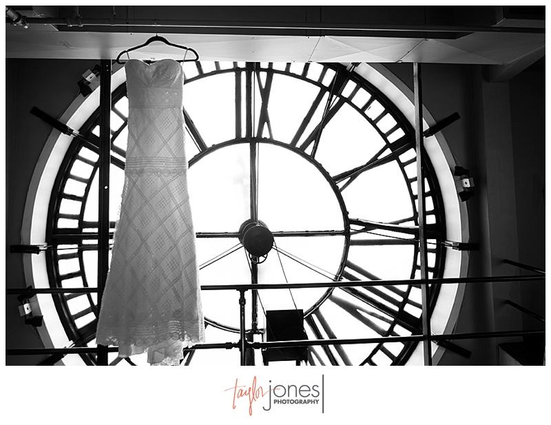 Dress shot at Denver Clock Tower wedding