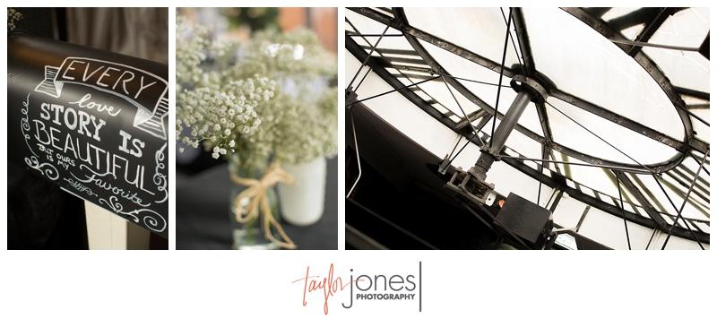 Detail shots at Denver clock tower wedding