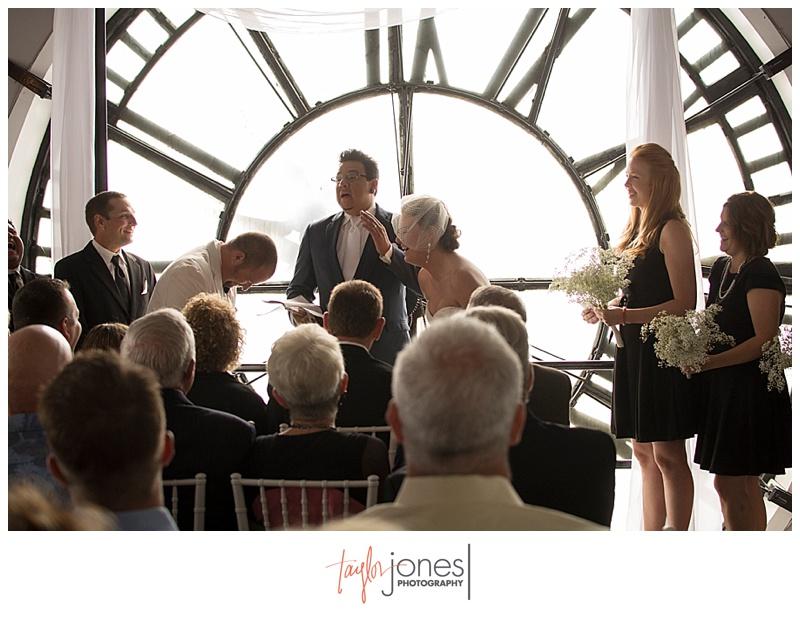 Ceremony at Denver Clock Tower wedding