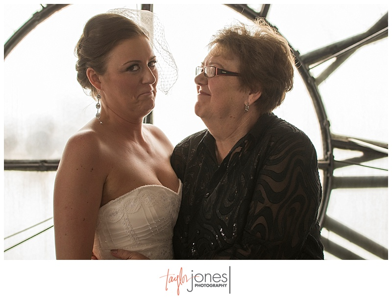 Mom and bride at the Denver Clock Tower wedding