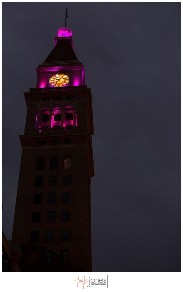 Downtown Denver at Denver Clock Tower wedding