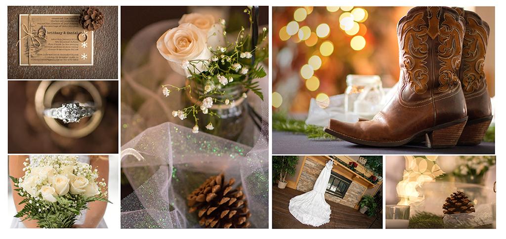 Colorado winter wedding details