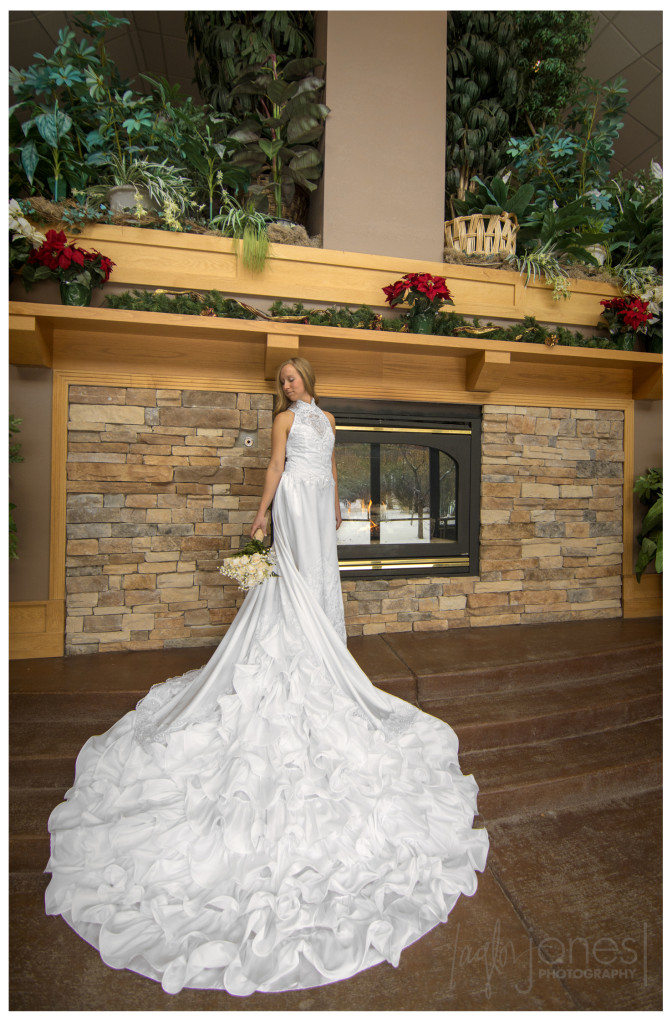 Brittany in her mothers wedding dress