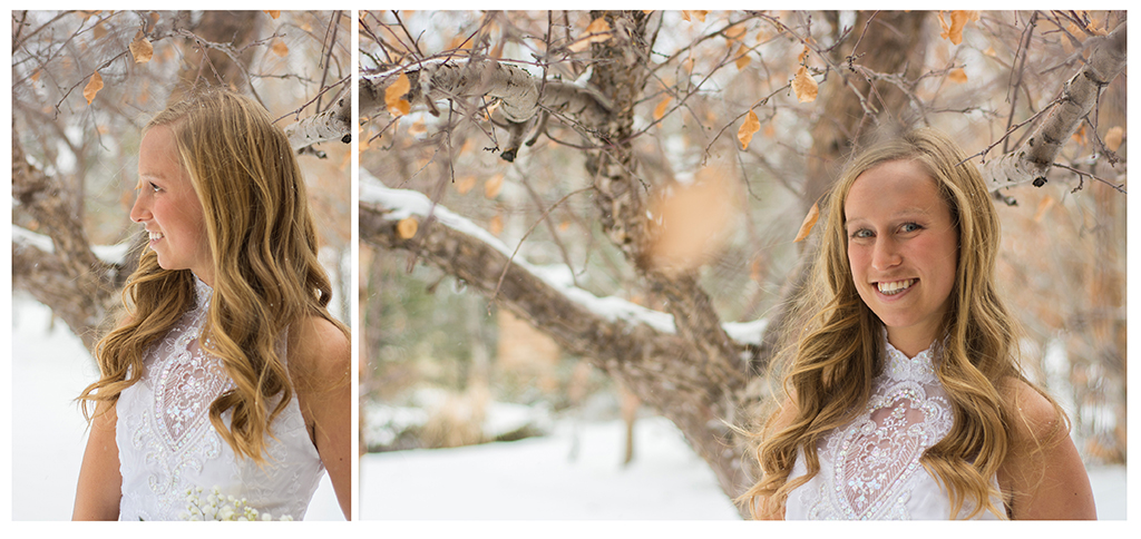 Brittany bridal portraits from winter wedding
