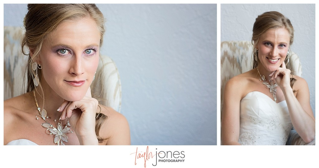 Bridal portraits at Perry Park wedding