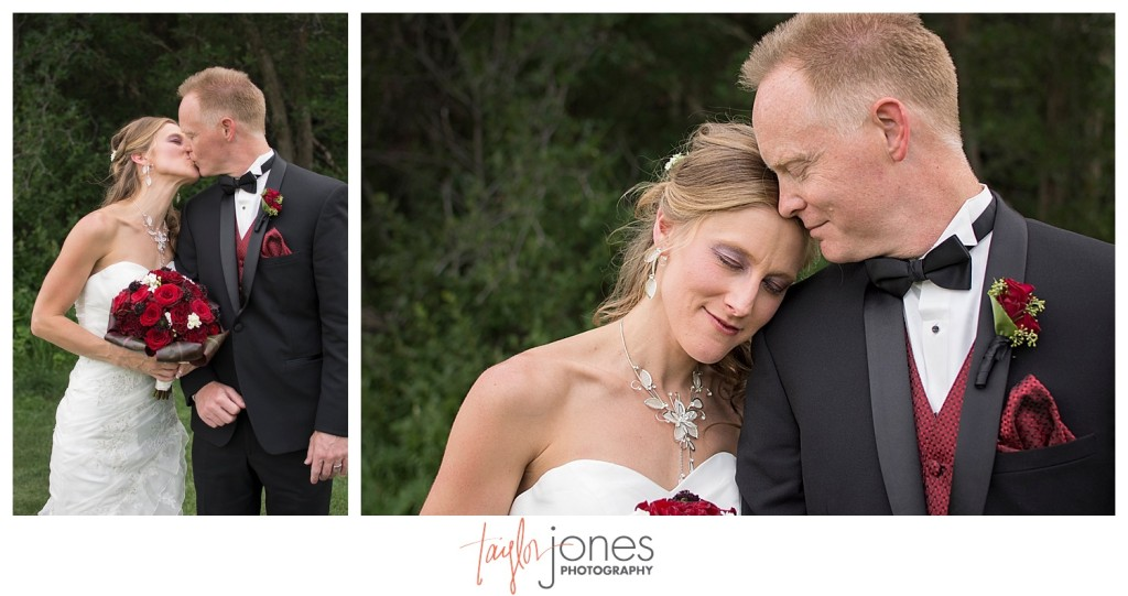 Bride and groom portraits at Perry Park wedding