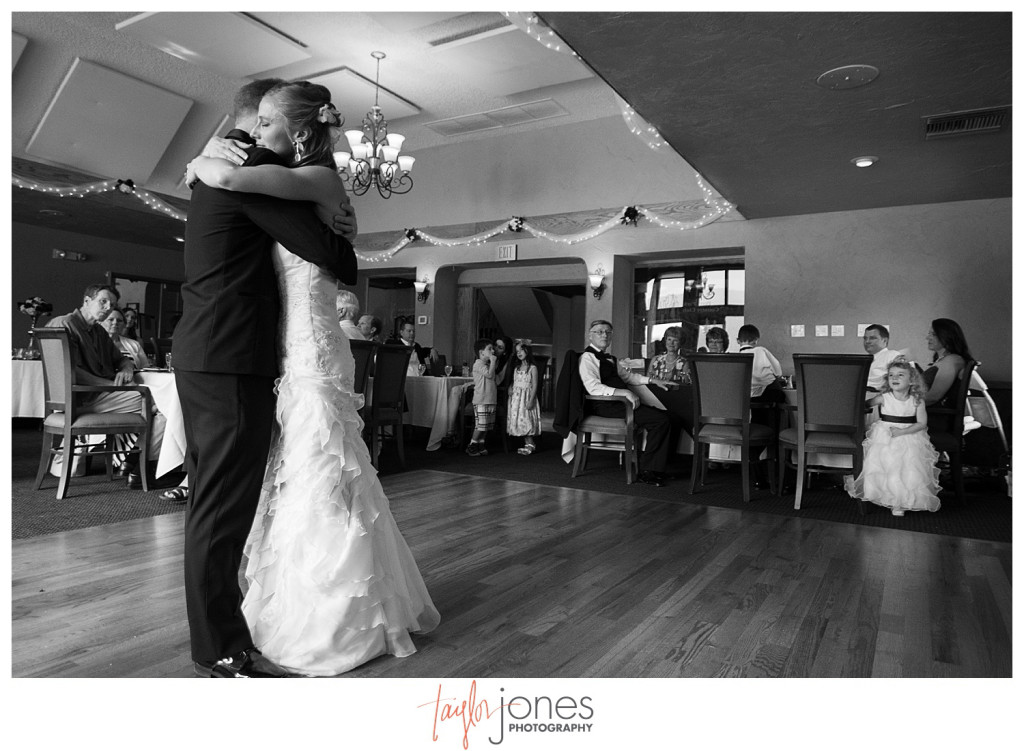 Bride and groom first dance at Perry Park wedding