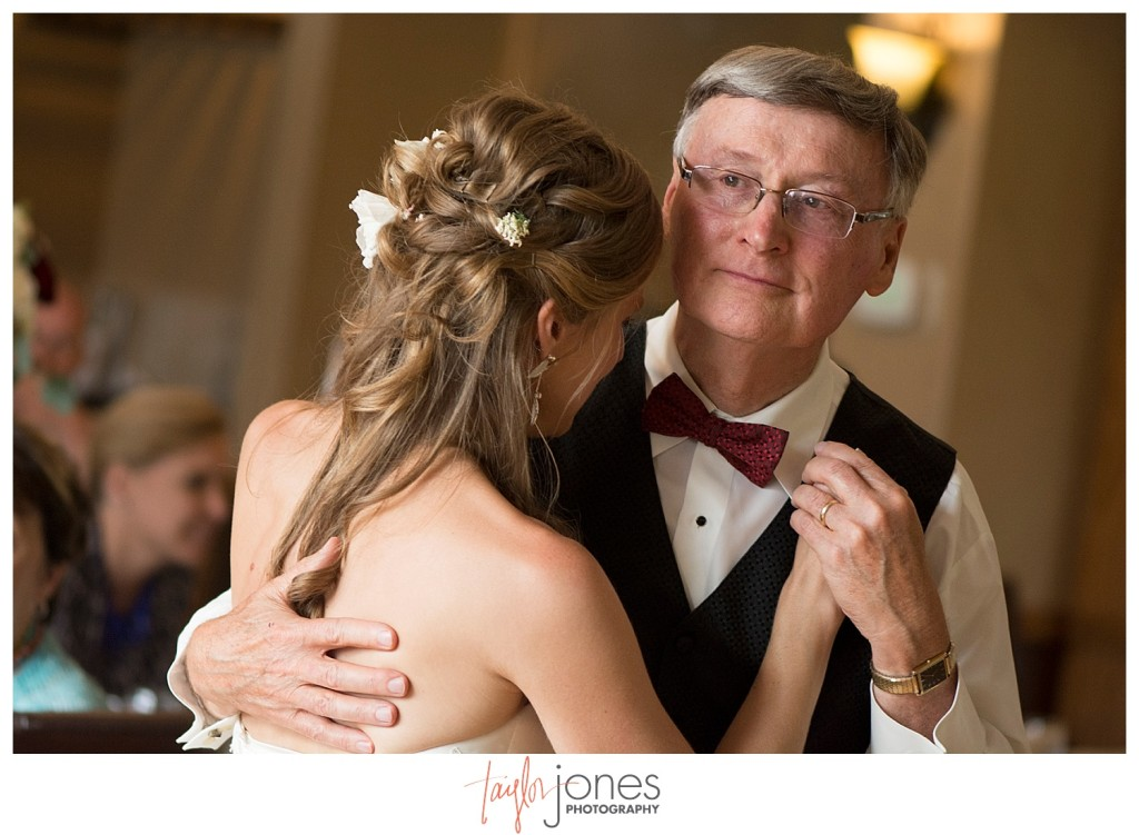 Father daughter dance at Perry Park wedding
