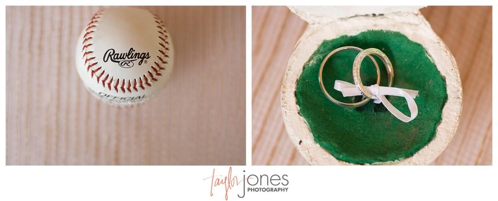 Rings inside of baseball