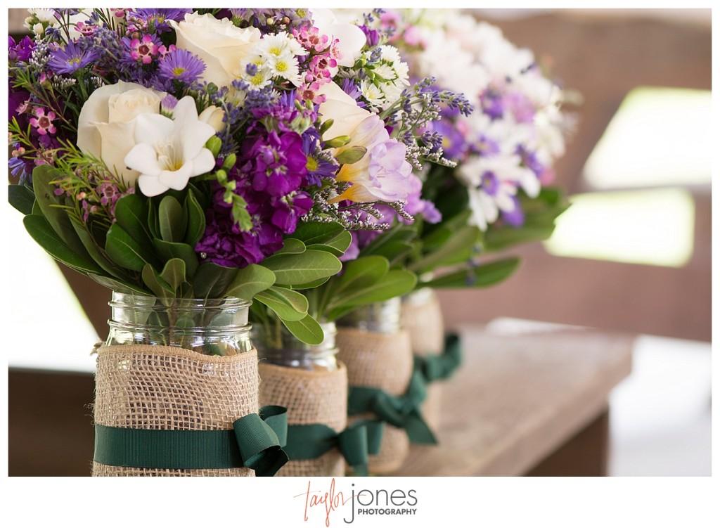 Wedding flowers, purple