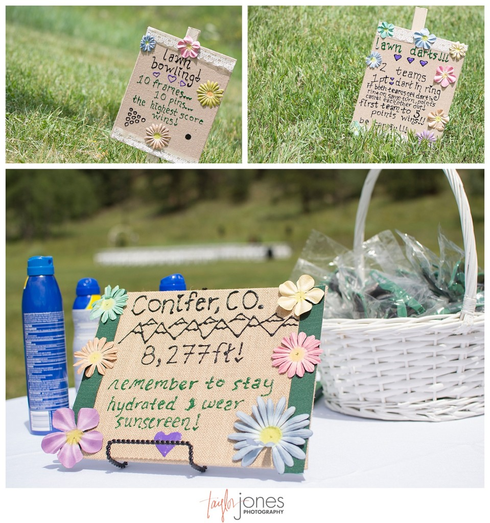 Lawn games for Mountain wedding