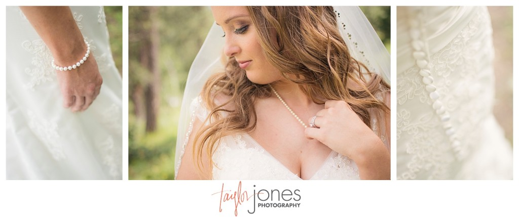 Bridal portraits in mountain wedding