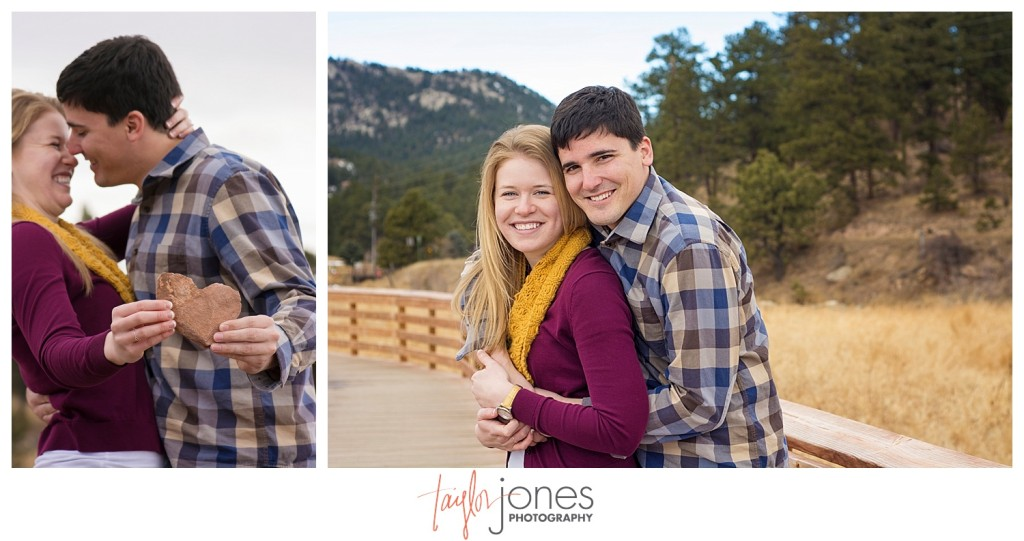 Engagement shoot at the Evergreen Lake house