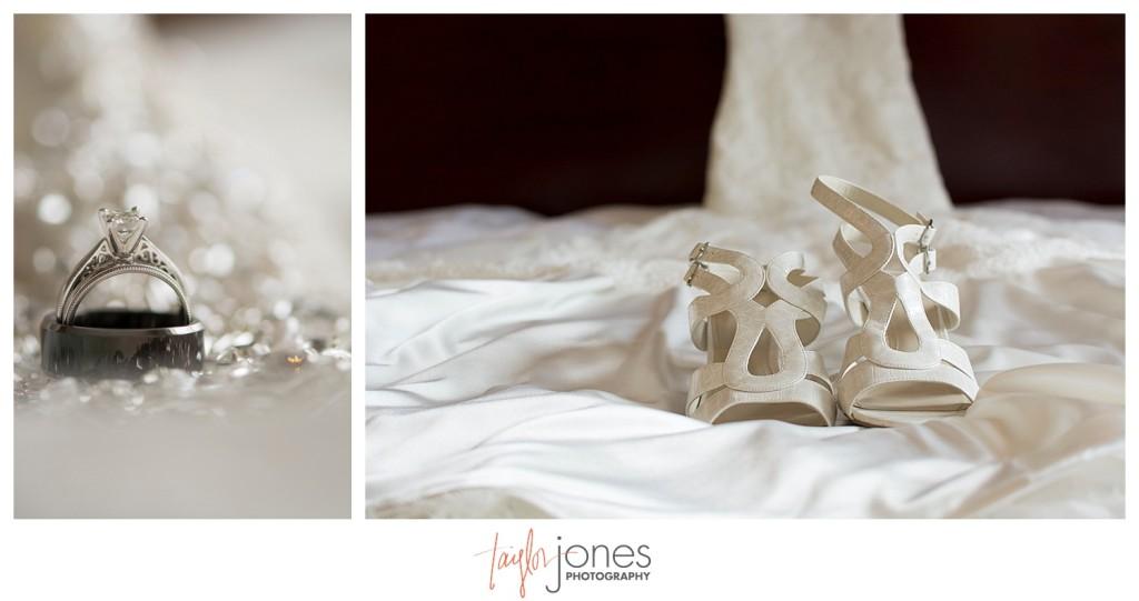 Shoe and dress shot Denver wedding