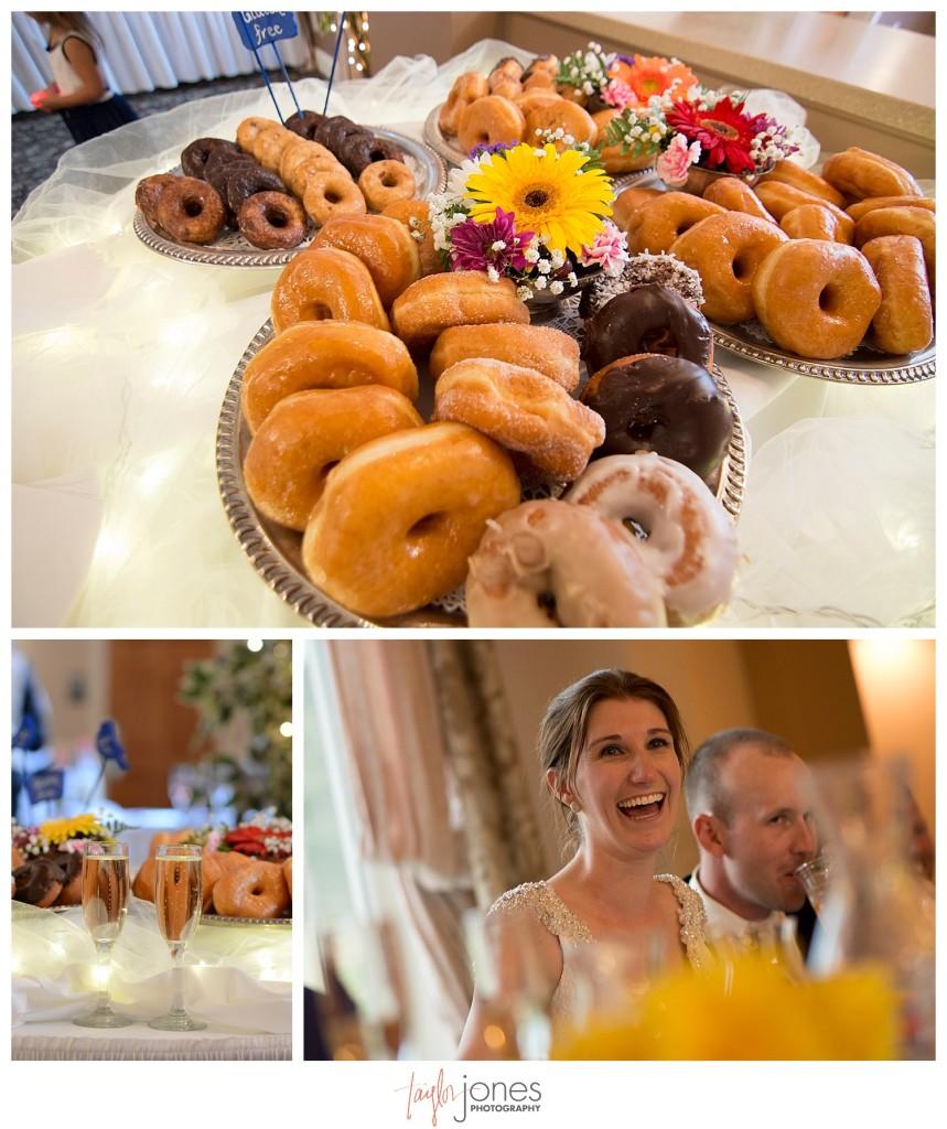 Doughnuts at Terrace Gardens wedding