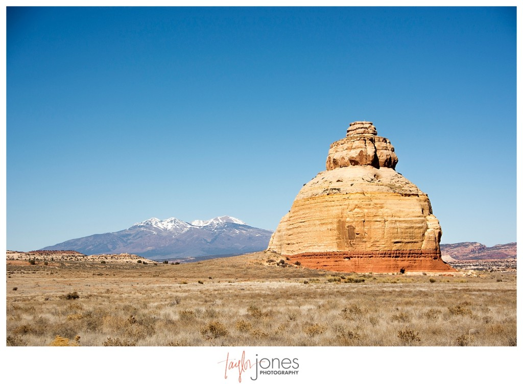 Moab, Utah and the La Sal Mountains