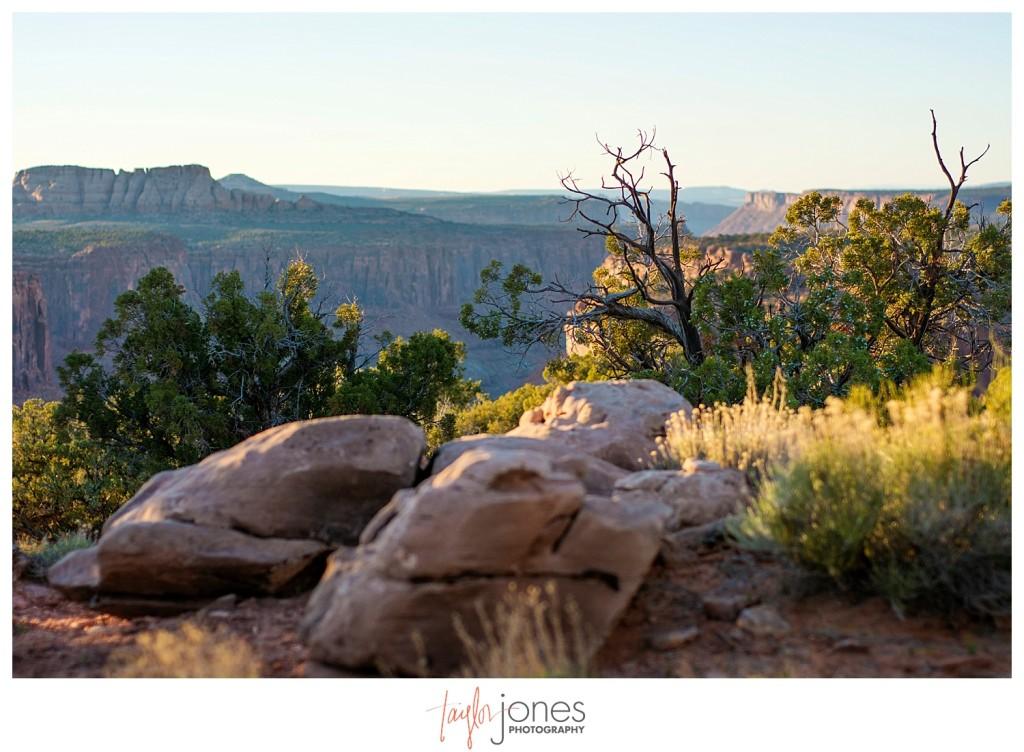 Sunset at campsite in Moab, Utah