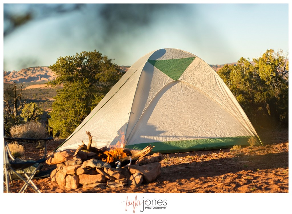 Our tent in Moab, Utah