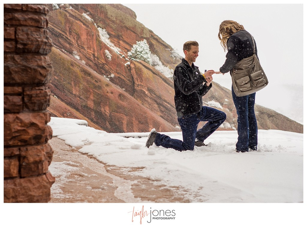 Red Rocks proposal in winter