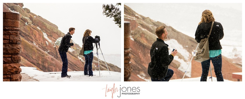 Red Rocks winter proposal photographer