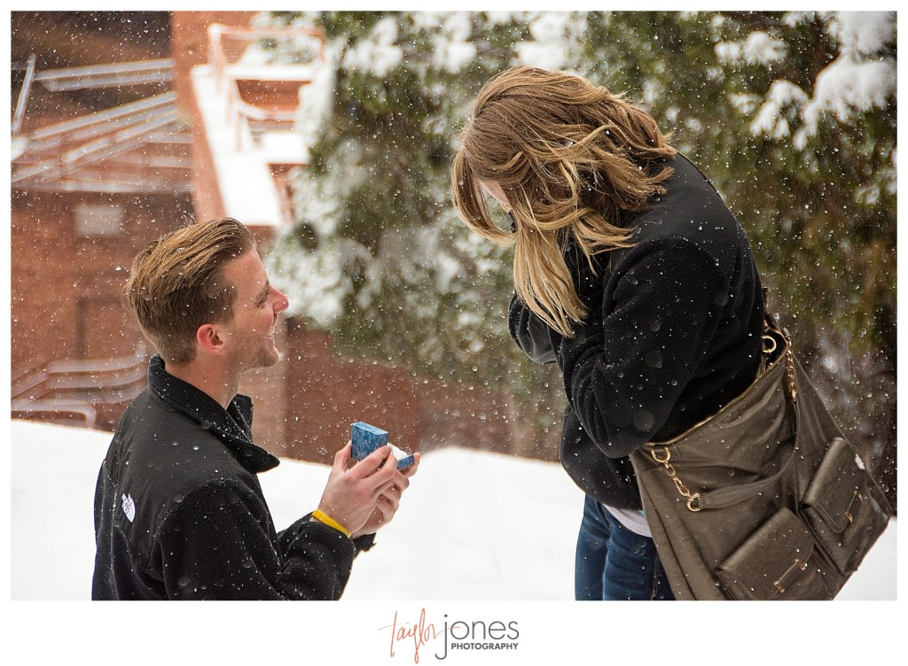 Red Rocks winter proposal photographer Colorado