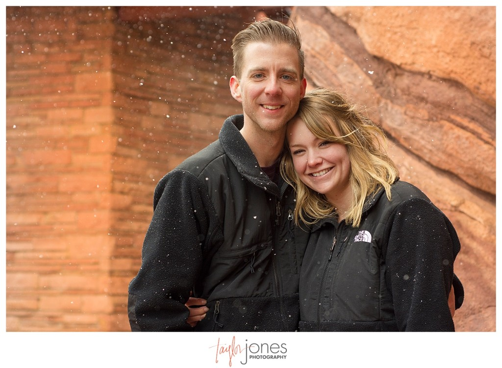 Winter proposal at Red Rocks