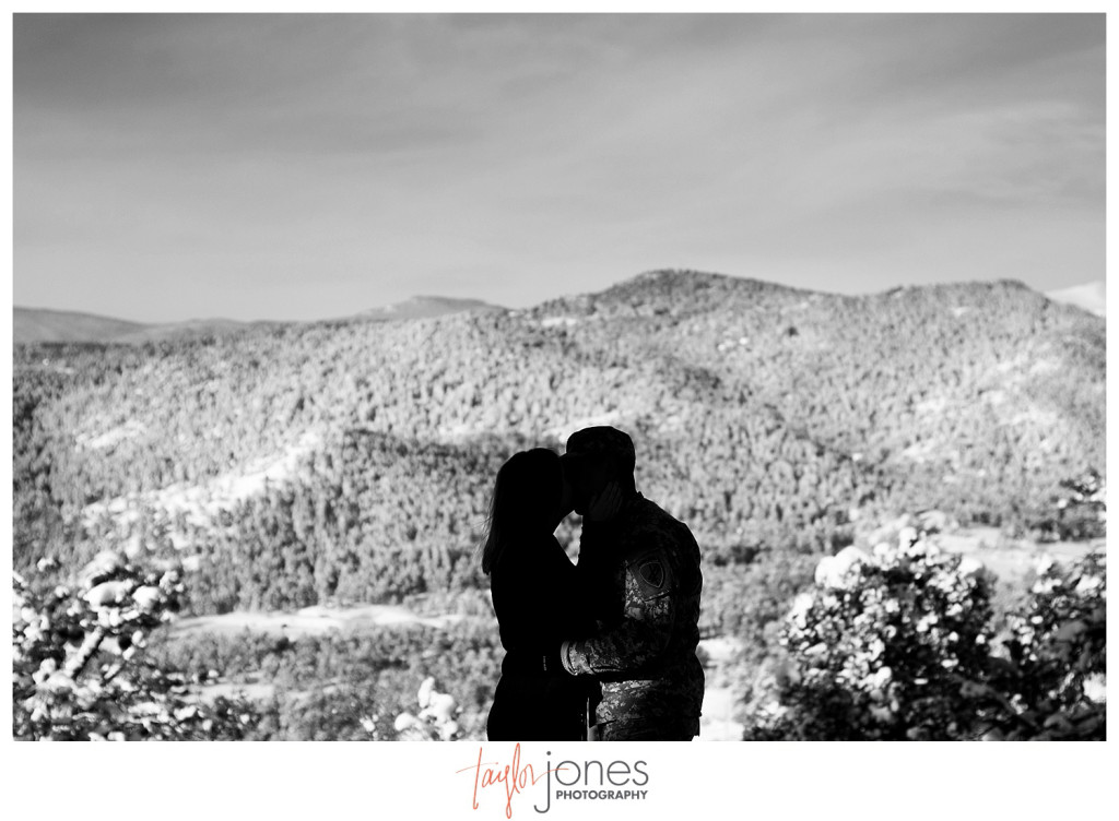 Mount Falcon Indian Hills engagement shoot silhouette photo