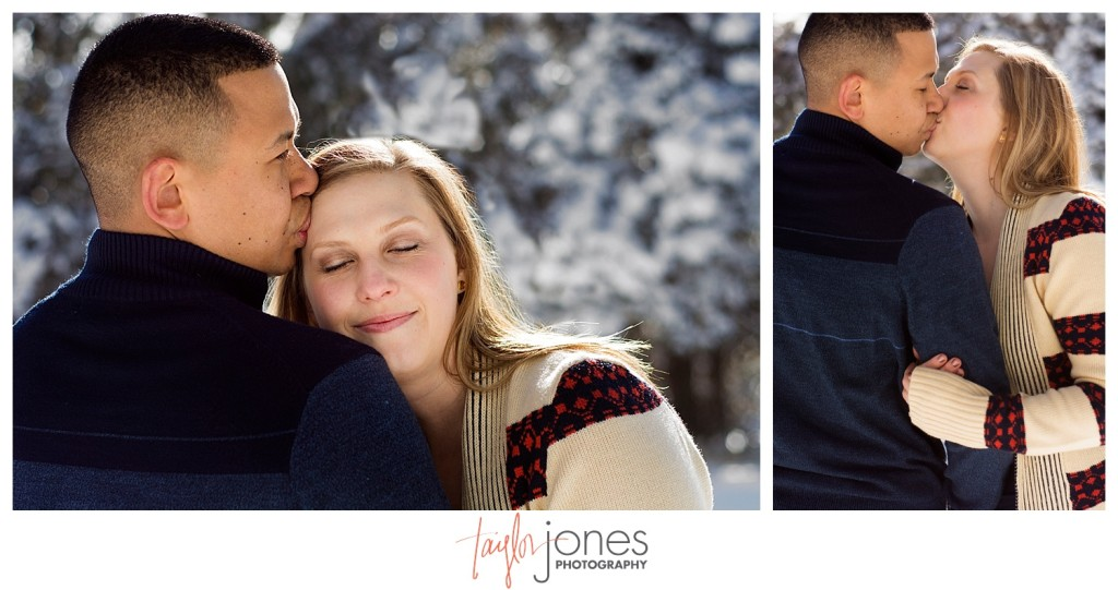 Bride and groom at Mt. Falcon engagement shoot