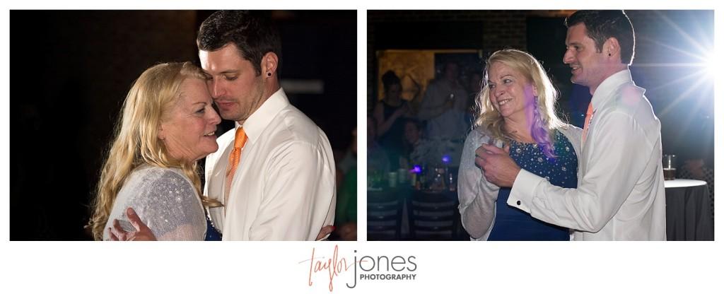 Mother Son dance at Mile High station wedding