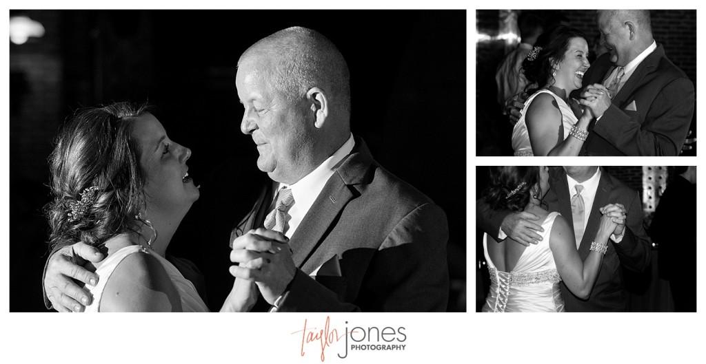 Father daughter dance at Mile HIgh station Denver wedding