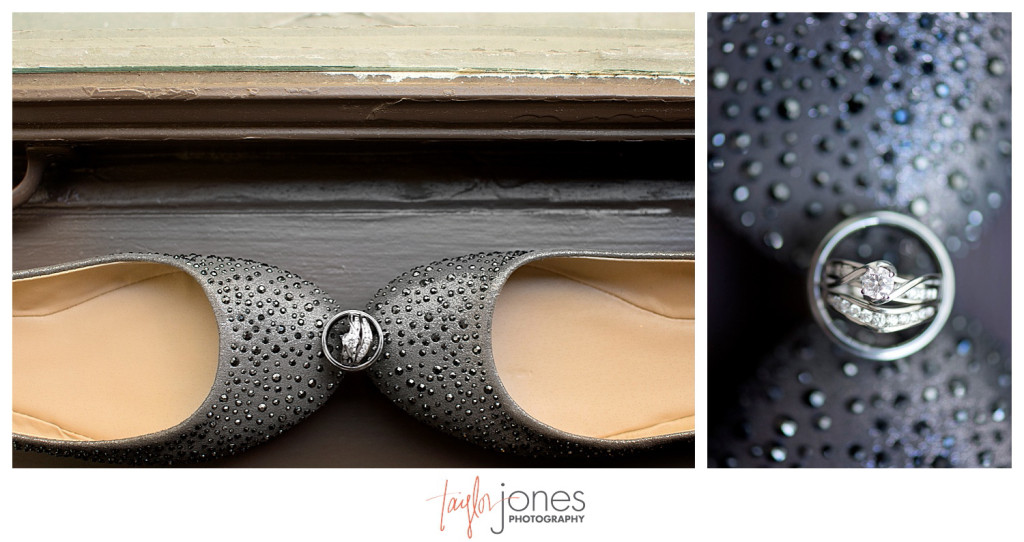 Ring and shoe shot from Denver wedding