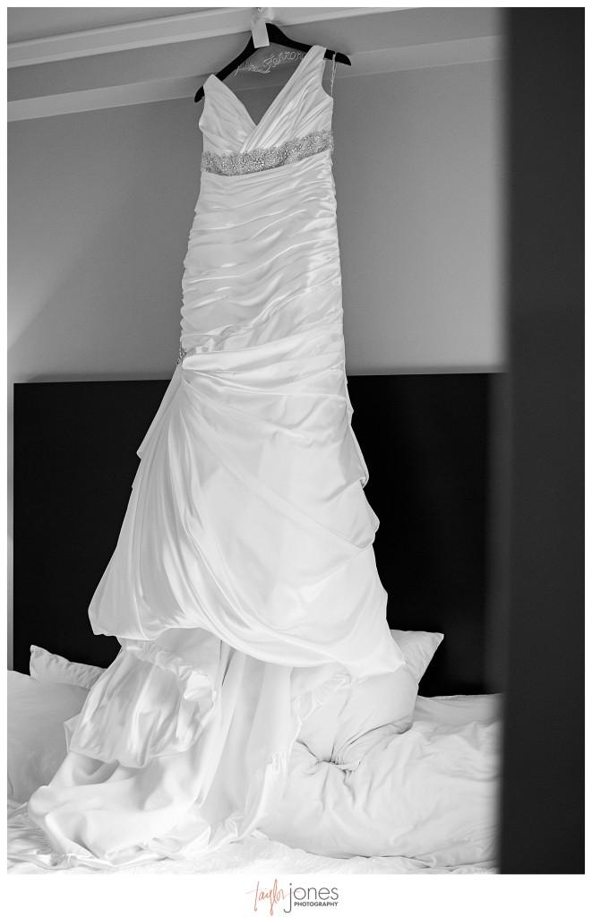 Dress photo of Denver wedding, magnolia hotel